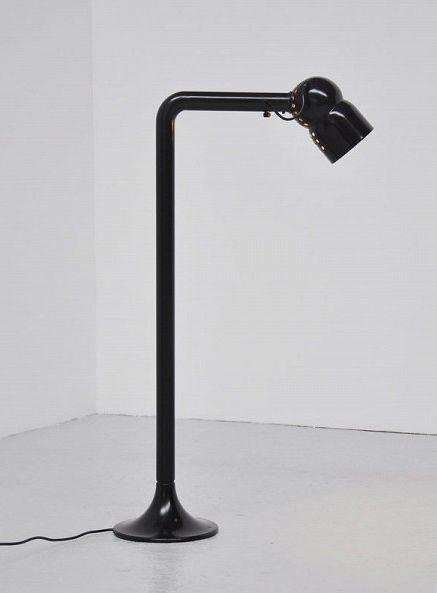 Elio Martinelli; Enameled Metal Floor Lamp, 1965.