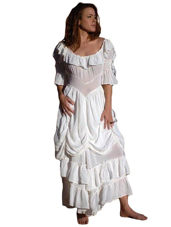 Cowgirl ruffled western wedding dress by marrika nakk for Western vintage wedding dresses
