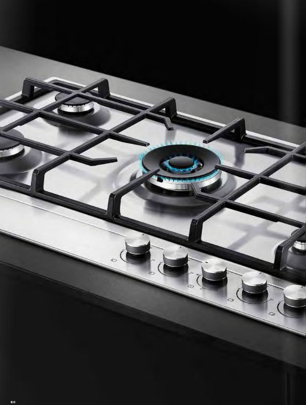 Gas on Steel hob Fisher & Paykel