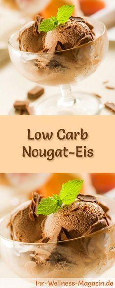 Rezept für selbstgemachtes Low Carb Nougat-Eis - ein einfaches Eisrezept für kalorienreduzierte, kohlenhydratarme und gesunde Eiscreme ohne Zusatz von Zucker ...