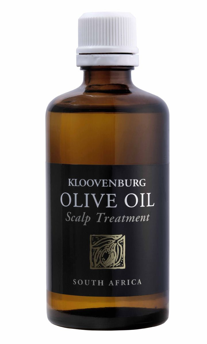 International model Naomi Campbell was the inspiration for Kloovenburg's Olive Oil Scalp Treatment – one of this supermodel's beauty secrets is that she massages her head and hair once a month with olive oil. Annalene du Toit took this a step further for her Olive Oil Scalp Treatment, adding lavender essential oil for both its healing and antiseptic properties and its soothing, subtle scent. The dark glass bottle preserves the restorative qualities of the oils.
