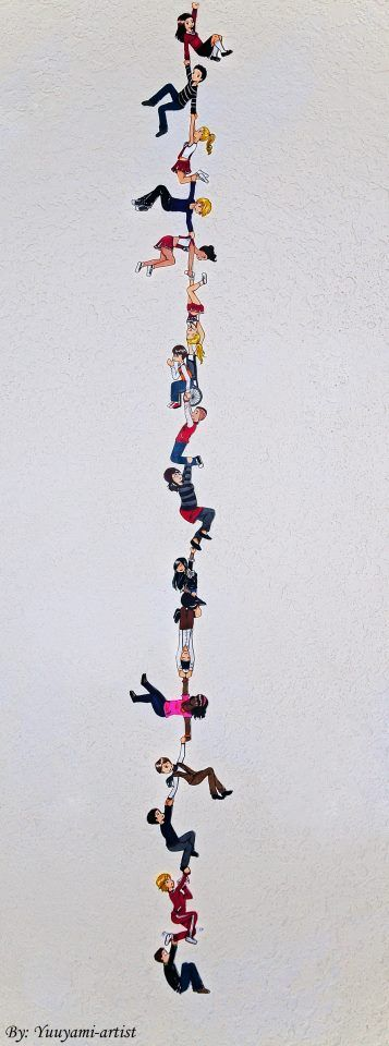 Rachel, Finn, Quinn, Sam, Santana, Brittany, Artie, Puck, Lauren, Tina, Mike, Kurt, Blaine, Sue, and Will.