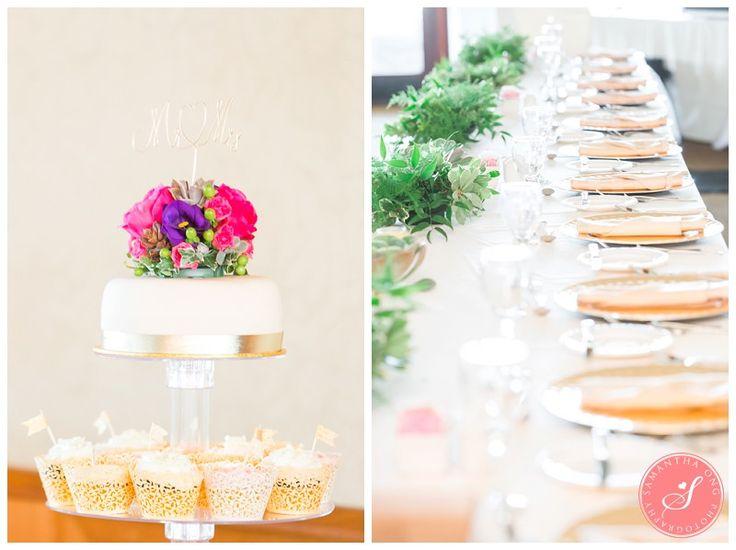 Beautiful cake + head table | Legends on the Niagara Summer Wedding Photos: Lindsay +  Dave | © 2015 Samantha Ong Photography samanthaongphoto.com | #samanthaongphoto #niagaraweddings #niagara #weddings #weddingphotography #legendsontheniagara #niagaraparkweddings