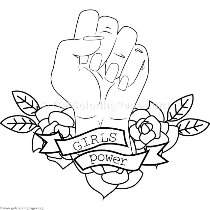 Free download Girls Power Coloring Pages #coloring #