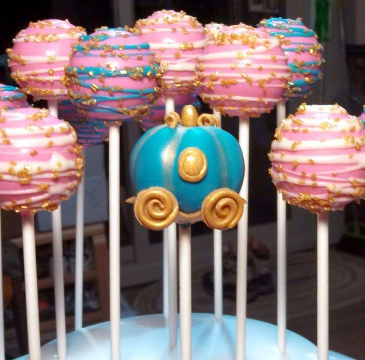 Cinderella Coach Cake Pop