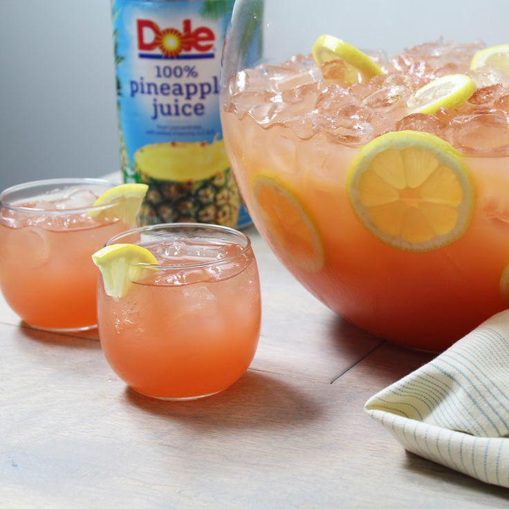 A delicious, refreshing fruit punch to serve at birthday or summer barbecues.