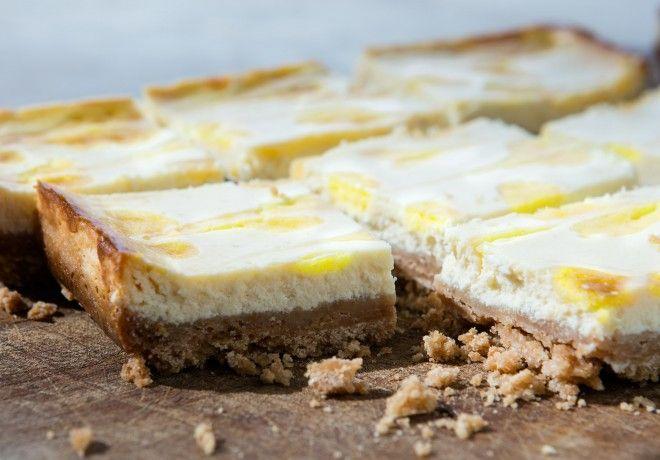 Barrette al cheesecake e limone #dolci #dessert