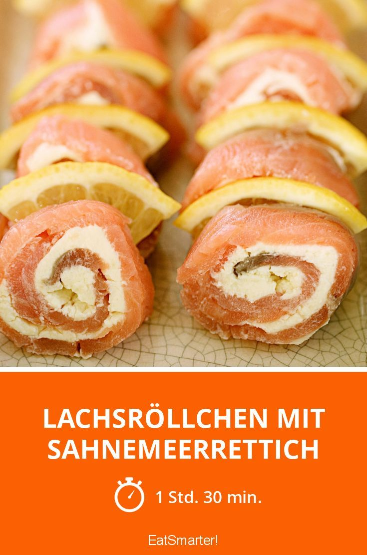 Lachsröllchen mit Sahnemeerrettich - smarter - Zeit: 1 Std. 30 Min. | eatsmarter.de