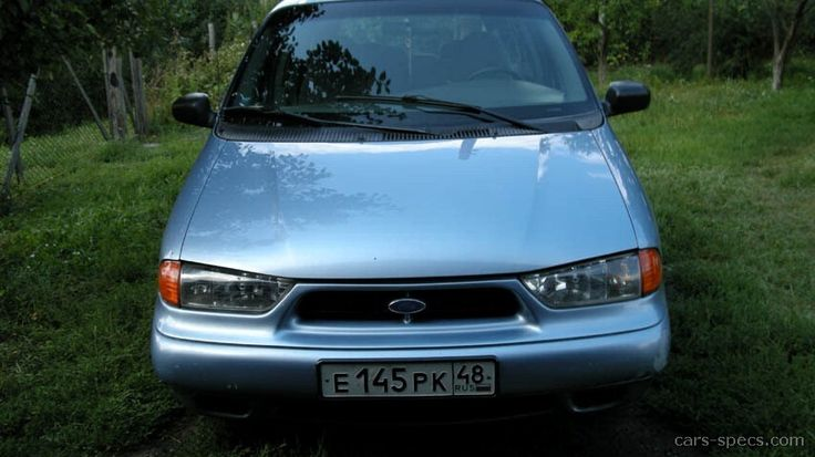 1998 Ford Windstar in Light Denim Blue metallic.
