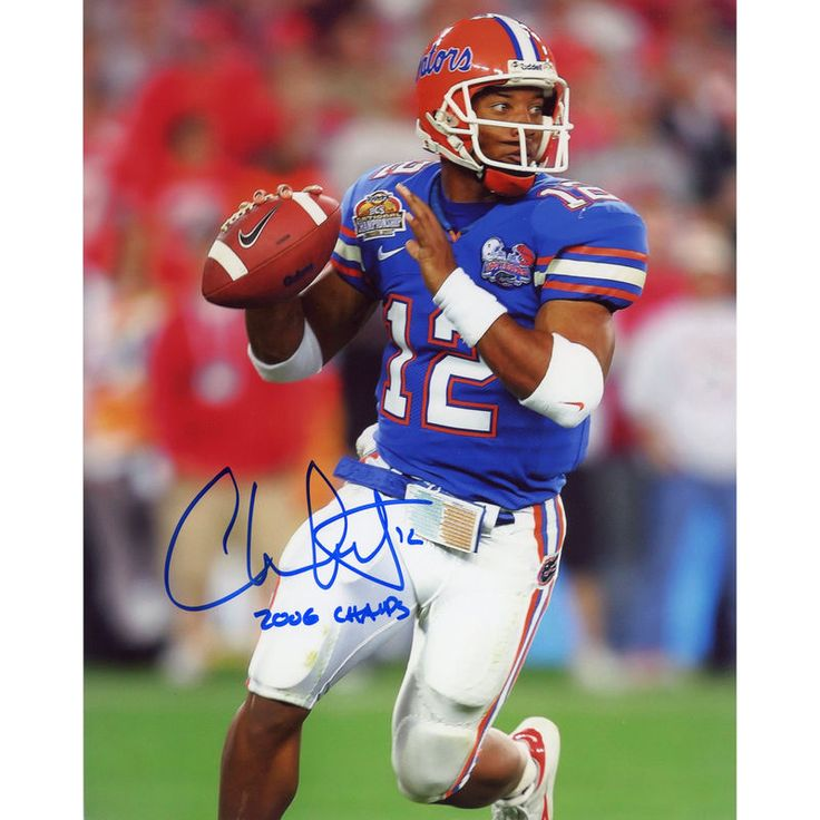 "Chris Leak Florida Gators Fanatics Authentic Autographed 8"" x 10"" Throw Blue Ink Photograph with 2006 Champs Inscription"