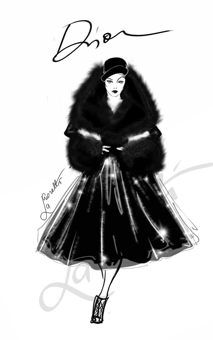 """""""Black Swan"""" John Galliano per Dior Couture 2008 by Nadia La Moretti"""