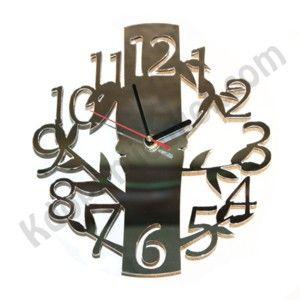 Horloge personnalisée design et originale forme bambou : finition miroir ou noire