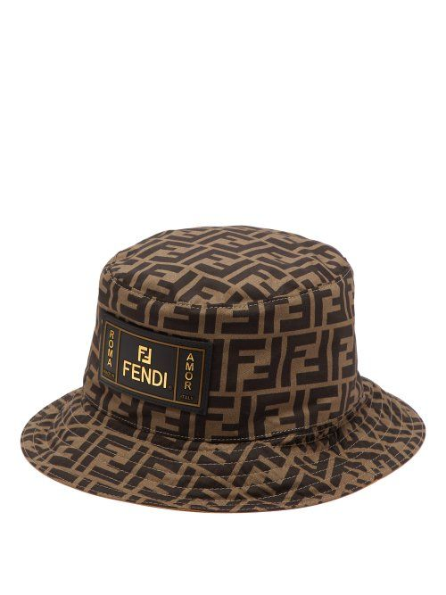 2811a57c FENDI FENDI - FF PRINT COTTON BUCKET HAT - MENS - BROWN MULTI. #fendi