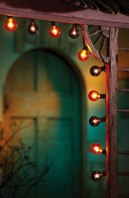 carnival theme....: Halloweendecorations Costumes, Lights Halloween, Halloween Lighting, Globe String Lights, Christmas Lights, Halloween Lights, Halloween Ideas, Halloween Globe