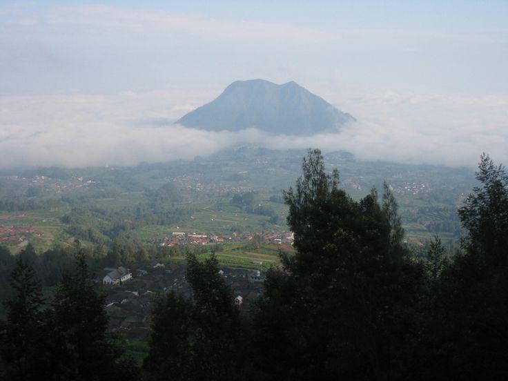 Merbabu mountain from cunthel  basecamp