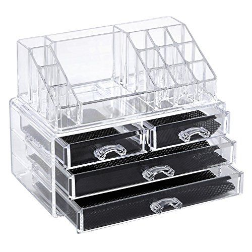 Bathroom Organization: Songmics Cosmetic/makeup Organizer Jewelry Display Box Bathroom Storage Case Drawers UJMU04T ** Learn more by visiting the image link.