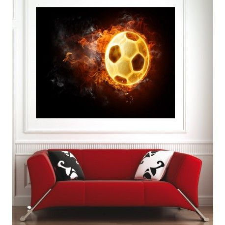 Affiche poster ballon de foot