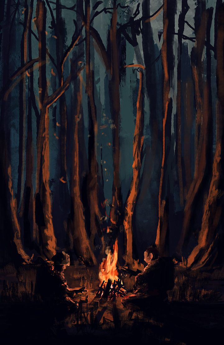Best 25+ Forest painting ideas on Pinterest | Watercolor ... Campfire Painting
