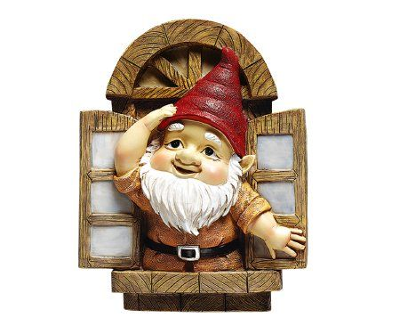 Amazon.com: De Knothole Gnomes Garden Welkom Tree Sculptuur: Venster Gnome: Patio, Lawn & Garden