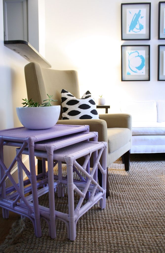 Purple Nesting Tables  Never Cared For These, But Purple Is Cute! So Handy,  Too