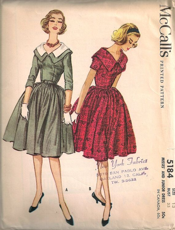 40 Best Vintage Patterns Images On Pinterest Sewing Patterns Mesmerizing Vintage Dress Patterns 1950s
