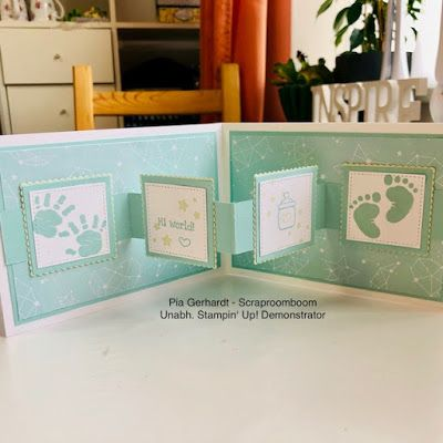Stampin with Scraproomboom: Pop Up Cards for Baby's