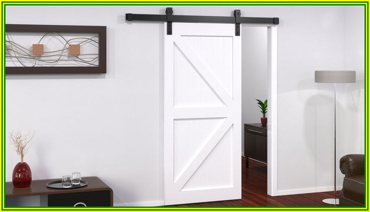 104 Reference Of Barn Door Track White In 2020 Sliding Barn Door Track Barn Door Track Solid Oak Bedroom Furniture