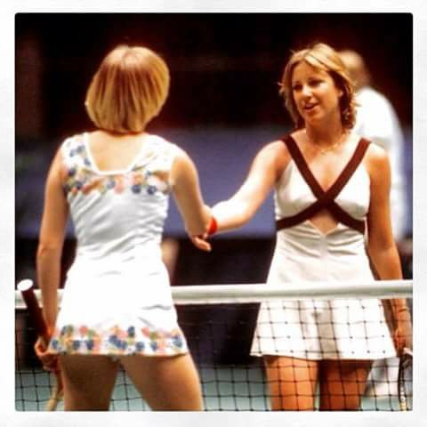 Chris Evert and Sue Barker.