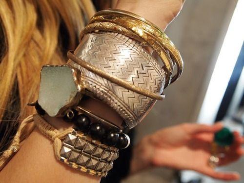 ..: Arm Candy, Bracelets Stacking, Jewelry Design, Armparti, Gold Bracelets, Jewelry Accessories, Layered Bracelets, Banglesbracelet Stackablestuff, Woman Style
