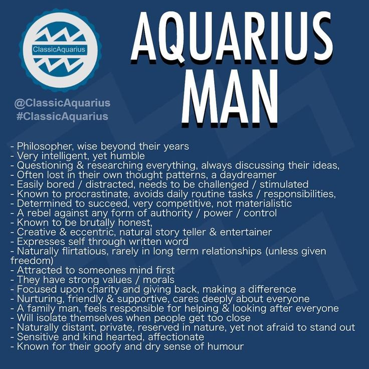 Aquarius male personality in love