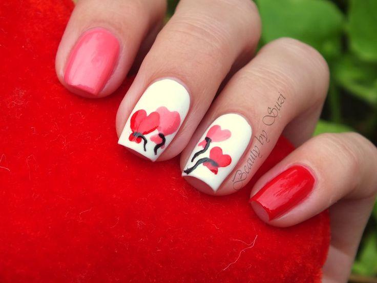 Anniversary ♥ Nail Design heart balloons manicure