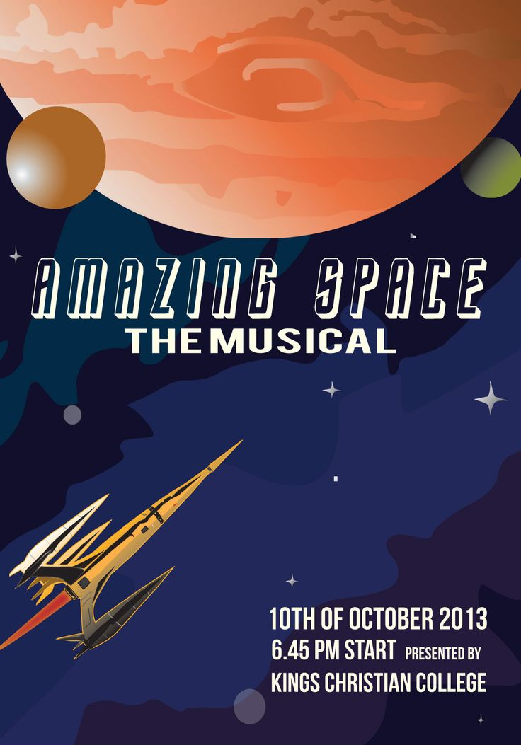Amazing Space - The Musical Written and performed by the King's Christian College community.  Coming to you on October 10, 2013