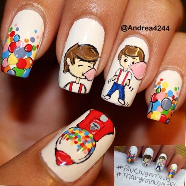 15 best Bubblegum Nails images on Pinterest | Cute nails, Gumball ...