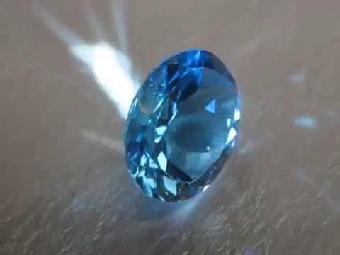 Batu Permata Natural Swiss Blue Topaz Oval Cut 2.93 Carat