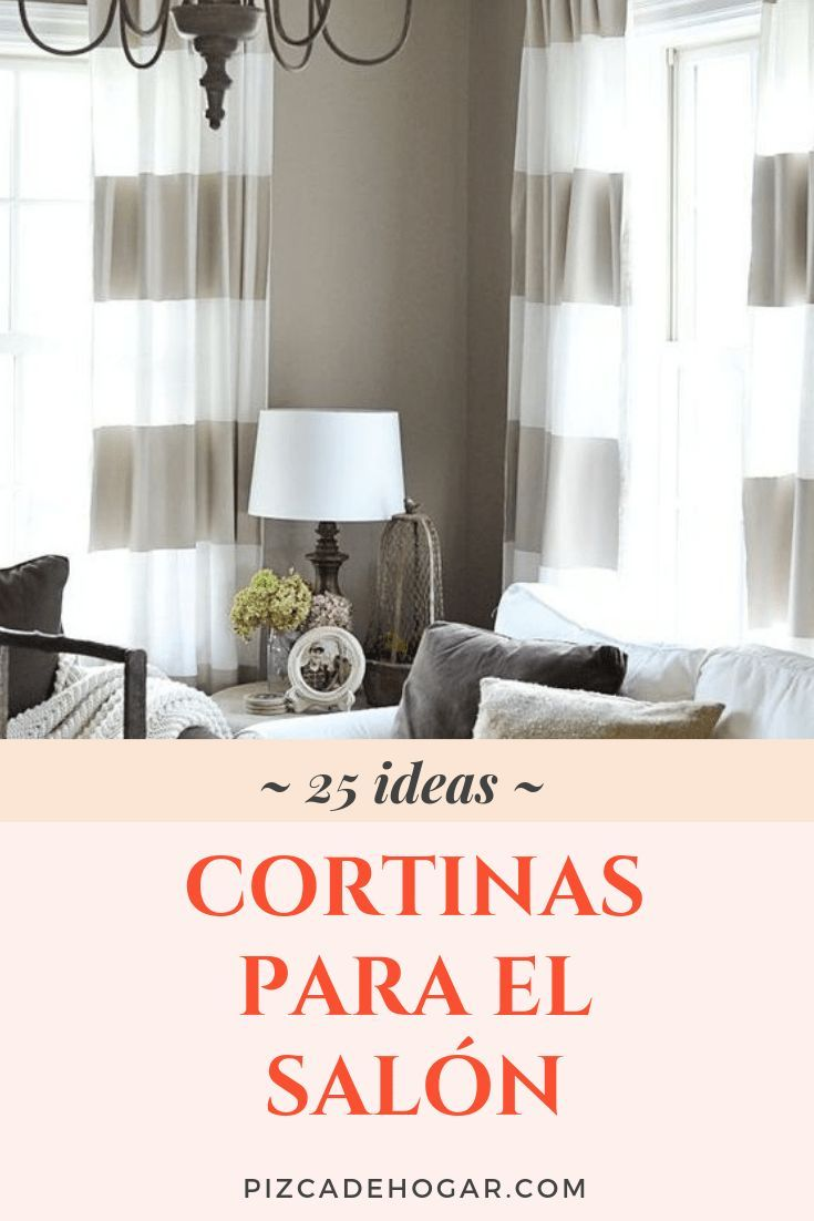 Cortinas para el Salón: 19 Ideas de Decoración  Cortinas