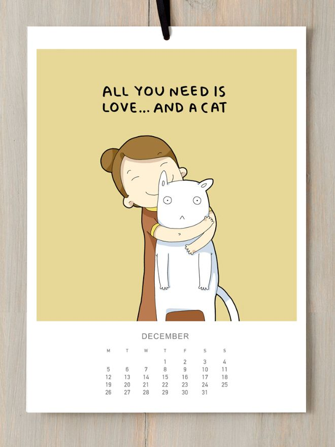 2016 Funny Calendar For All The Cat Lovers Out There