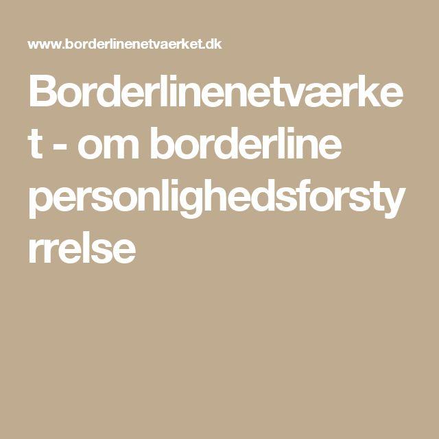 Borderlinenetværket - om borderline personlighedsforstyrrelse