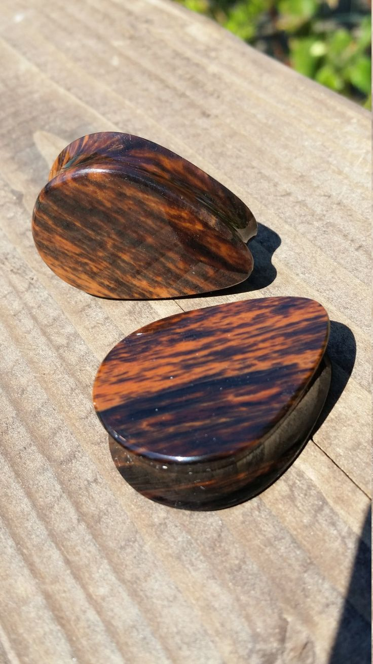 "1 5/16"" Inch Goldshine Mahogany Obsidian Stone Teardrop Plugs by ElementalWorkshopcom on Etsy"