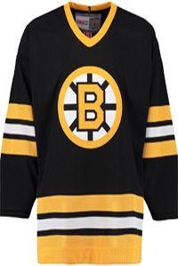 Boston Bruins CCM Vintage 1982 Black Replica NHL Hockey Jersey