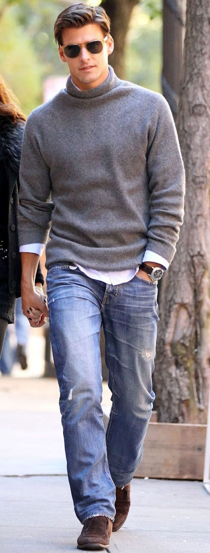 Winter mens men s fall fall autumn pre fall denim winter jeans - 40 Cool Men Sweater Outfits Ideas That Worth To Try Mens Sweater Outfitsmen Sweaterman Outfitstriped Shirtsmen S Fall Fashionwinter