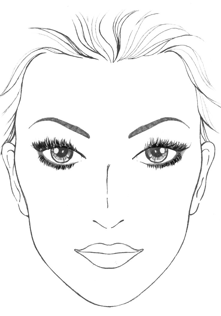 Eyeshadow Template: 36 Best FACE CHART Images On Pinterest