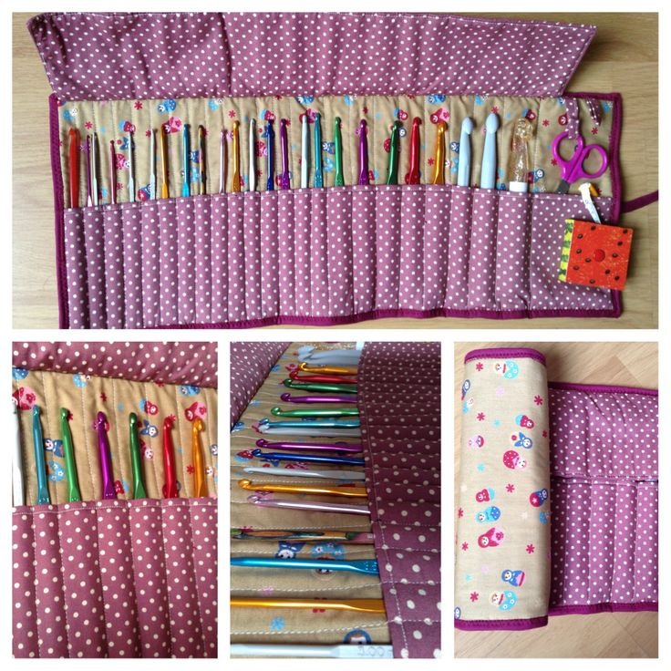 Funda para ganchillos #crochet #patchwork / hook case #handmade