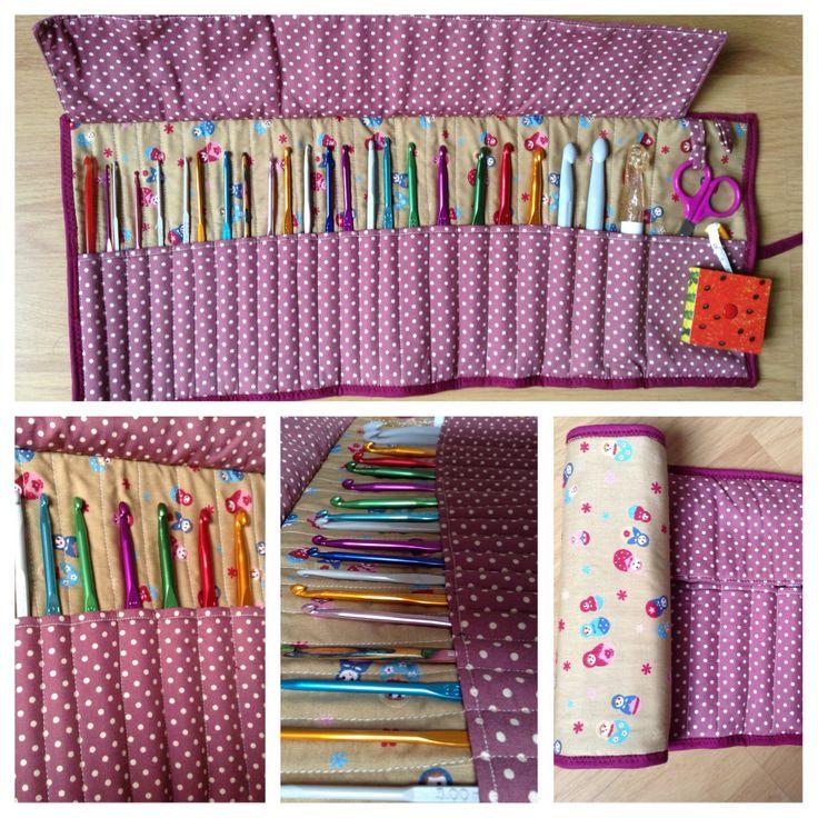Funda para ganchillos #crochet #patchwork / hook case #handmade