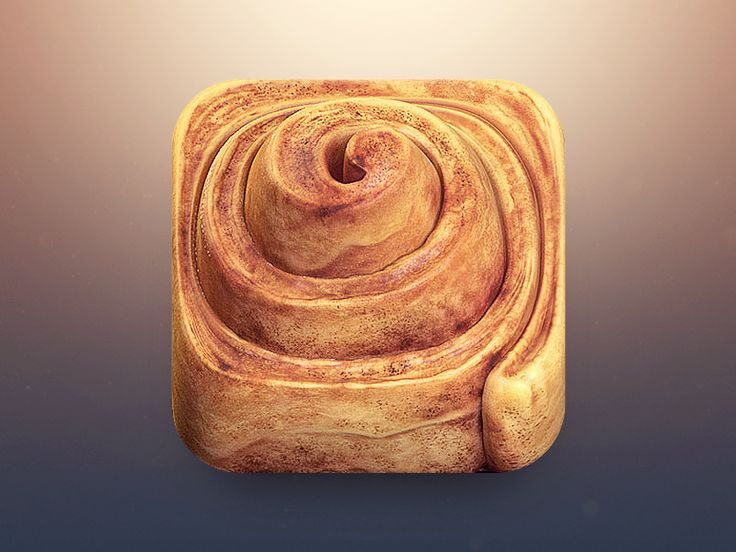 cinnamon roll 30 Highly Skeuomorphic Icon Designs With Incredible Detail