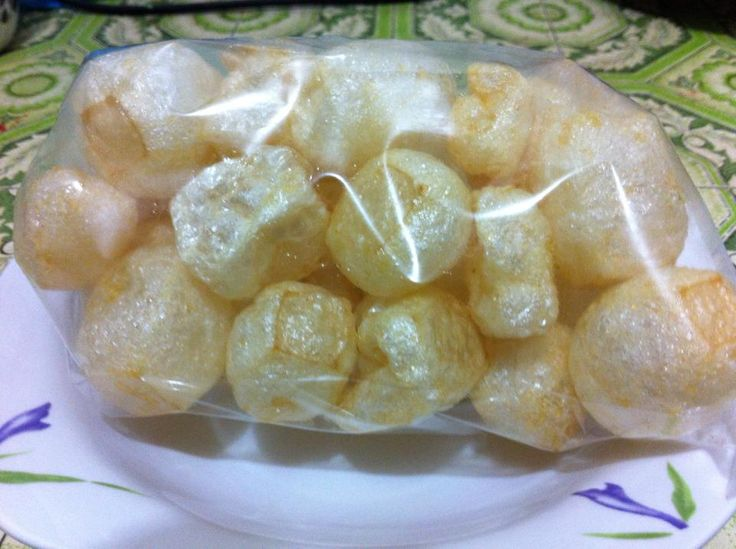 "One of the crackers that is great to eat with Satay Padang. This is called ""Jangek"" in Indonesia."