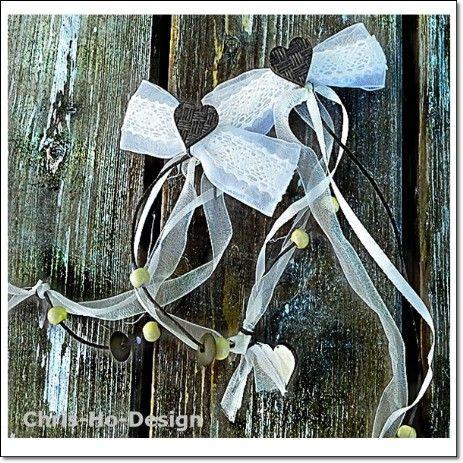 Hårspenne med blonder og perler - Chris-Ho.com