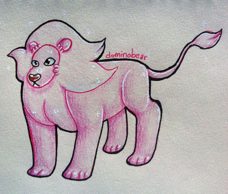 Steven Universe Lion-by Dominobear