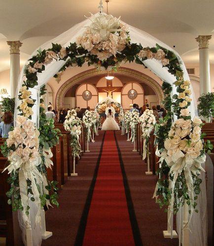 Church Wedding Arch Decorations: 77 Best Images About EN LA IGLESIA On Pinterest