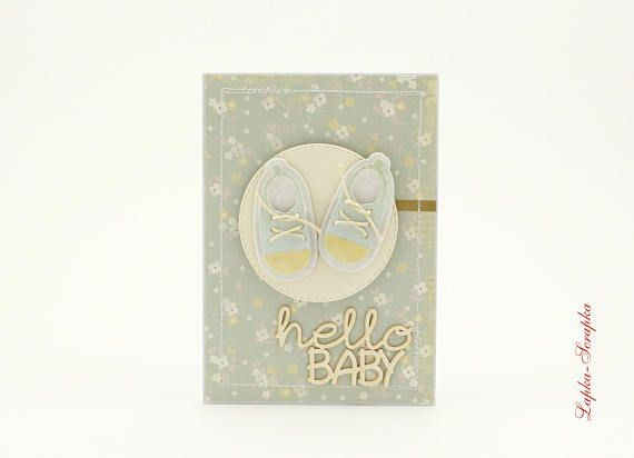 Babykarte Geburtstagskarte baby greeting card handgemachte