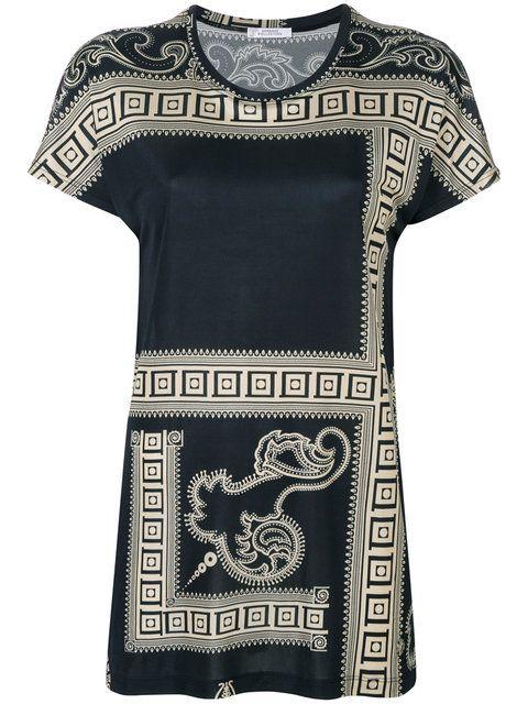 Versace Collection blusa con estampado barroco